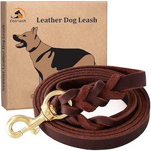 Fairwin Leather Large Dog Leash