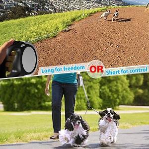 MigooPet Double Retractable Dog Leash