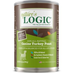 Nature's Logic Canine Turkey Feast All Life Stages Grain-Free Canned Dog Food