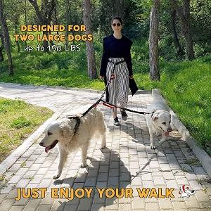 Pet Dreamland Hands Free Double Dog Leash