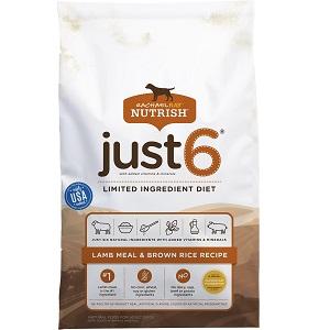 Rachael Ray Nutrish Just 6 Natural Lamb Meal & Brown Rice