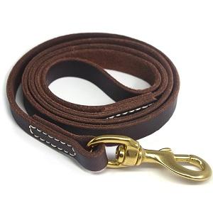 YOGADOG Genuine Leather Dog Training Leash