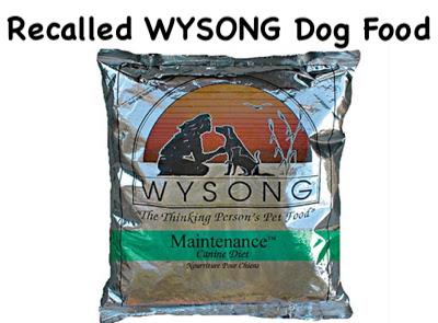 Wysong Dog Food Recall