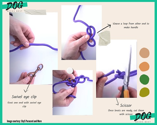 DIY  Rope Dog Leash Idea by CbyS Paracord and More