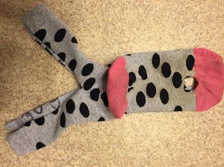 diy dog sock diaper